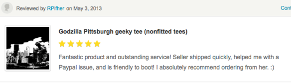 First Etsy review